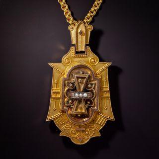 Victorian Locket Necklace, Circa 1875 - 0