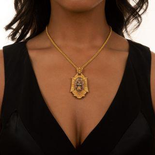 Victorian Locket Necklace, Circa 1875