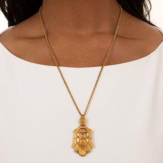 Victorian Locket Pendant Necklace