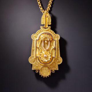 Victorian Locket Pendant Necklace - 1