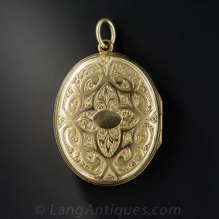 Victorian Locket with Enamel Buckle Motif (Order of the Garter)
