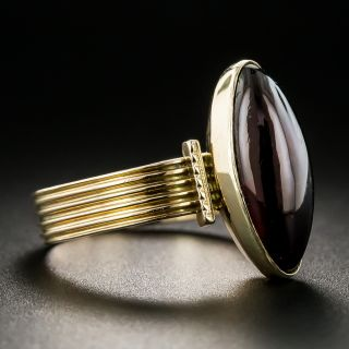 Victorian Marquise Cabochon Garnet Ring