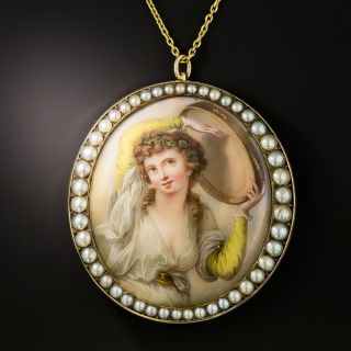 Victorian Miniature Pearl Pendant/Brooch - 1