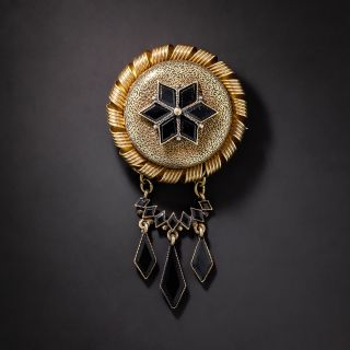 Victorian Mourning Brooch - 4