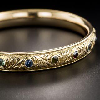 Victorian Multi-Gem Bangle Bracelet by William Huger & Co