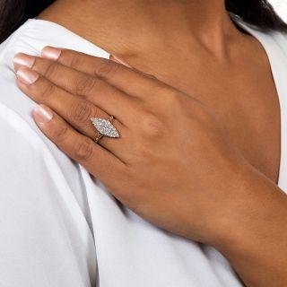 Victorian Navette-Shaped Diamond Cluster Ring