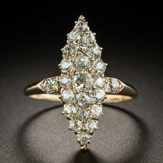 Victorian Navette Shaped Diamond Dinner Ring - 2