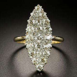 Victorian Navette Shaped Diamond Ring - 3