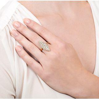 Victorian Navette Shaped Diamond Ring