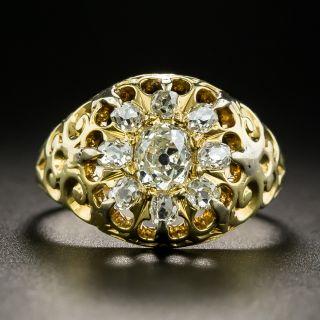 Victorian Old Mine Diamond Cluster Ring - 2