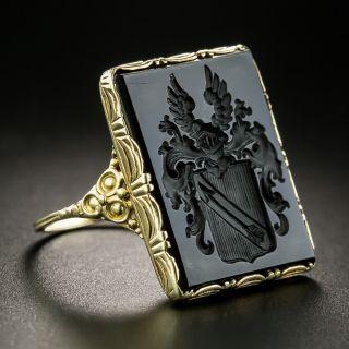 Victorian Onyx Intaglio Ring - 3