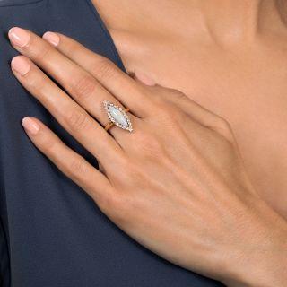 Victorian Opal and Diamond Navette Dinner Ring