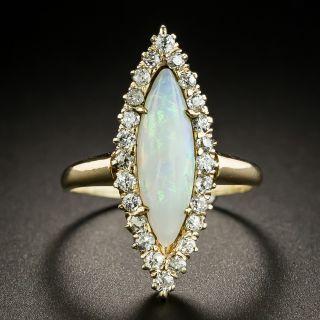 Victorian Opal and Diamond Navette Dinner Ring - 3
