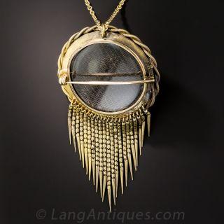 Victorian Opal and Diamond Pendant/Brooch