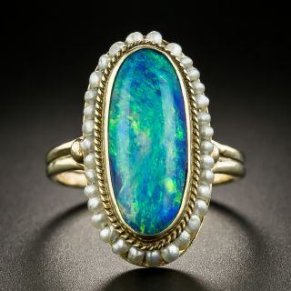 Victorian Opal and Pearl Ring - 2