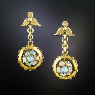 Victorian Opal Drop Earrings - 2