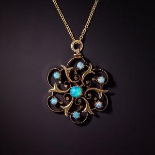 Victorian Opal Pinwheel Pendant - 0