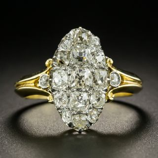 Victorian Oval Diamond Cluster Ring - 2