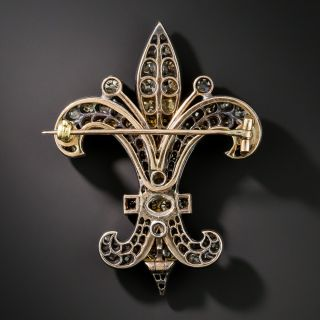 Victorian Diamond Fleur-De-Lys Pendant/Brooch