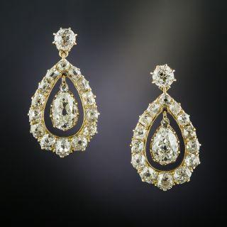 Victorian Pear-Shaped Diamond Earrings - 2