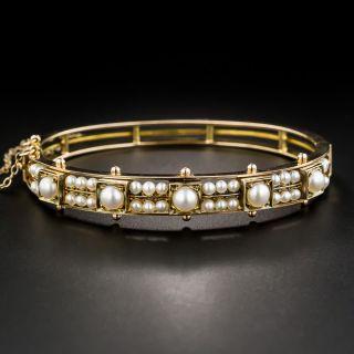 Victorian Pearl Bangle Bracelet