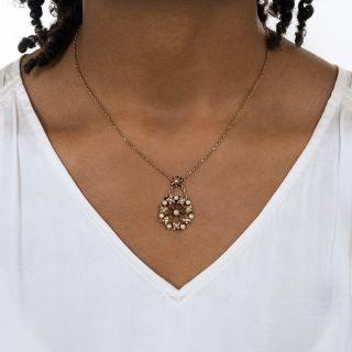 Victorian Pearl Circle Pendant