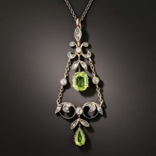 Victorian Peridot and Diamond Necklace - 2