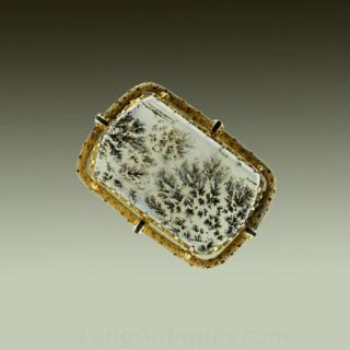 Victorian Picture Agate Pin Main View