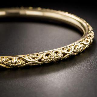 Victorian Pierced Bangle Bracelet