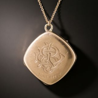 Victorian Platinum And Rose Gold Diamond Locket
