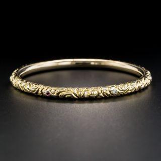 Victorian Repousse Bangle Bracelet