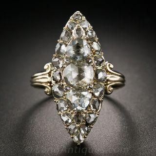 Victorian Retrospective Rose-Cut Diamond Ring - 1