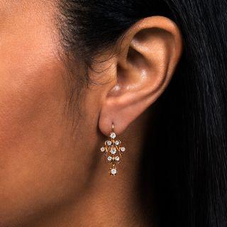 Victorian Revival Diamond Dangle Earrings
