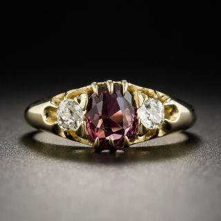Victorian Rhodolite Garnet and Diamond Ring - 1