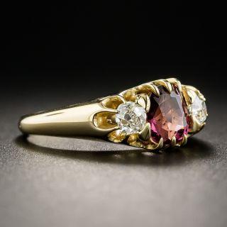Victorian Rhodolite Garnet and Diamond Ring