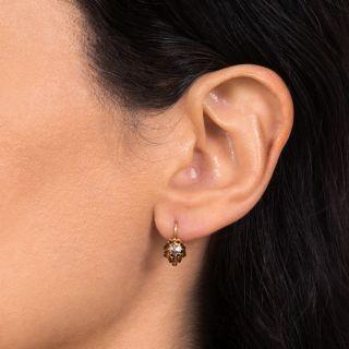 Victorian Rose-Cut Diamond Dangle Earrings, Netherlands