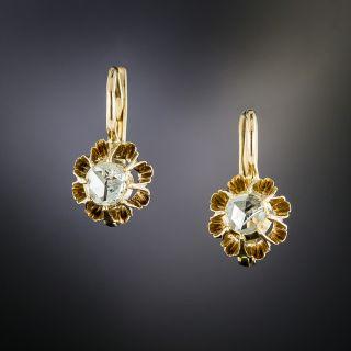 Victorian Rose-Cut Diamond Dangle Earrings, Netherlands - 2
