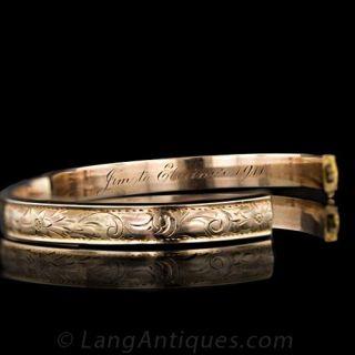 Victorian Rose Gold Bangle Bracelet