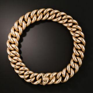 Victorian Rose Gold Curb Link Bracelet - 2