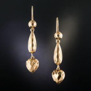 Victorian 9K Rose Gold Dangle Earrings - 2