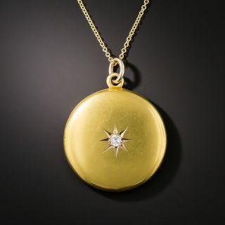 Victorian Round Diamond Locket - 2