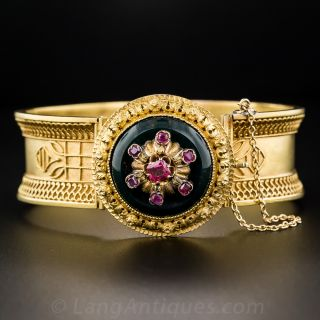 Victorian Ruby and Bloodstone Bracelet