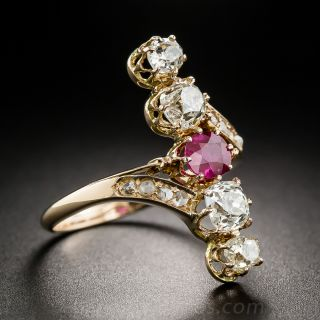 Victorian Ruby and Diamond Dinner Ring