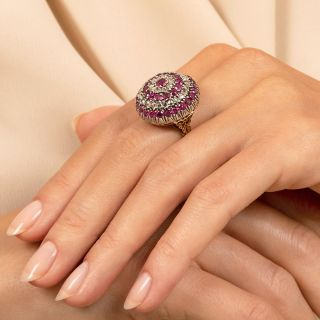Victorian Ruby and Diamond Dome Ring