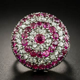 Victorian Ruby and Diamond Dome Ring - 2
