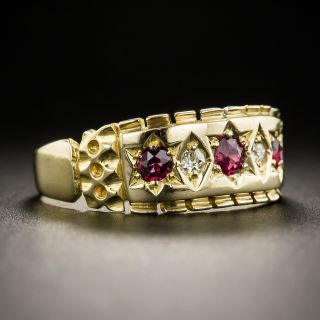 Victorian Ruby Diamond Band Ring