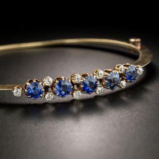 Victorian Sapphire and Diamond Bangle Bracelet - 2