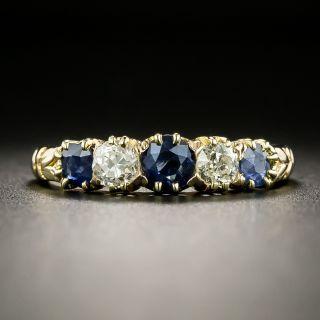Victorian Sapphire and Diamond Five-Stone Ring - 2