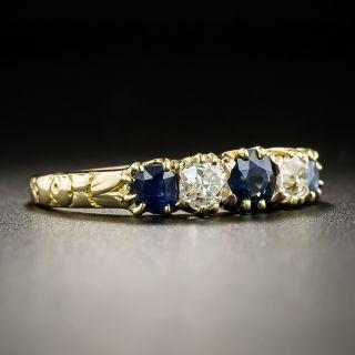 Victorian Sapphire and Diamond Five-Stone Ring