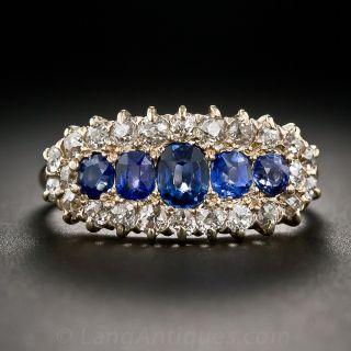 Victorian Sapphire and Diamond Ring - 1